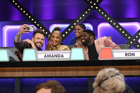 JOEL MCHALE, AMANDA SEALES, CONTESTANT, RON FUNCHES