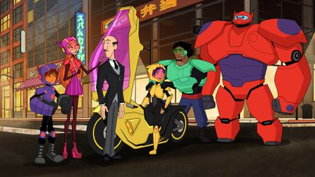 HIRO, HONEY LEMON, HEATHCLIFF, GO GO, WASABI, BAYMAX