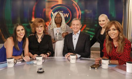 ABBY HUNTSMAN, JOY BEHAR, WHOOPI GOLDBERG, ROBERT IGER, MEGHAN MCCAIN, SUNNY HOSTIN