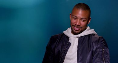 "04. Charles Michael Davis, ""Ted"", On working with Britt Robertson"