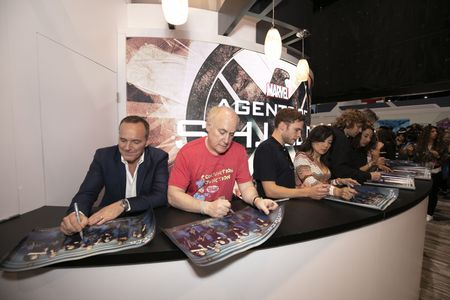 CLARK GREGG, JEPH LOEB (EXECUTIVE PRODUCER AND HEAD OF MARVEL TELEVISION), IAIN DE CAESTECKER, MING-NA WEN