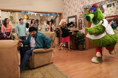 HAYLEY ORRANTIA, SAM LERNER, CEDRIC YARBROUGH, STEPHANIE COURTNEY, JENNIFER IRWIN, MINDY STERLING, WENDI MCLENDON-COVEY, PHILLIE PHANATIC