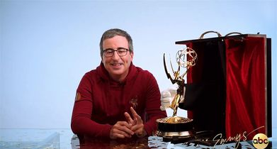The 72nd Emmy Awards Press Room Clips - 01. John Oliver - Winner Camera