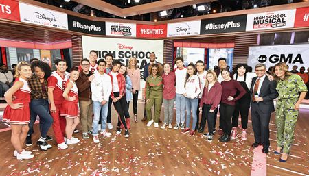 HIGH SCHOOL MUSICAL: THE MUSICAL: THE SERIES CAST, LARA SPENCER, MICHAEL STRAHAN, GEORGE STEPHANOPOULOS, GINGER ZEE