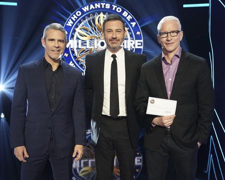 ANDY COHEN, JIMMY KIMMEL, ANDERSON COOPER