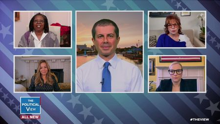 WHOOPI GOLDBERG, SUNNY HOSTIN, PETE BUTTIGIEG, JOY BEHAR, MEGHAN MCCAIN