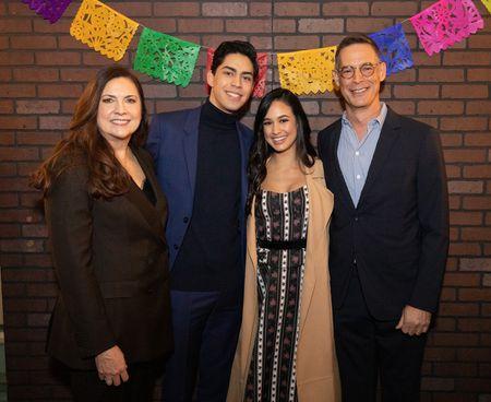 LAUREN CORRAO (EXECUTIVE VICE PRESIDENT, ORIGINAL PROGRAMMING AND DEVELOPMENT, FREEFORM), NIKO GUARDADO, EMILY TOSTA, TOM ASCHEIM (PRESIDENT, FREEFORM)