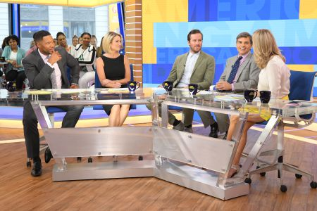 MICHAEL STRAHAN, AMY ROBACH, ARMIE HAMMER, GEORGE STEPHANOPOULOS, LARA SPENCER
