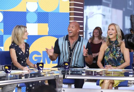 AMY ROBACH, DWYANE JOHNSON, LARA SPENCER