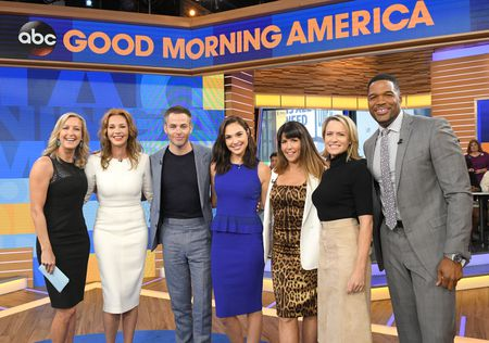 LARA SPENCER, CONNIE NIELSEN, CHRIS PINE, GAL GADOT, PATTY JENKINS, ROBIN WRIGHT, MICHAEL STRAHAN
