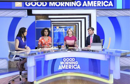 LINSEY DAVIS, JANAI NORMAN, AMY ROBACH, GEORGE STEPHANOPOULOS