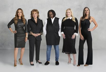 SUNNY HOSTIN, JOY BEHAR, WHOOPI GOLDBERG, MEGHAN MCCAIN, ABBY HUNTSMAN