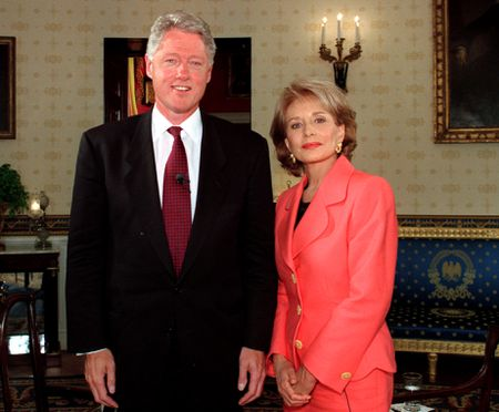 PRESIDENT BILL CLINTON, BARBARA WALTERS