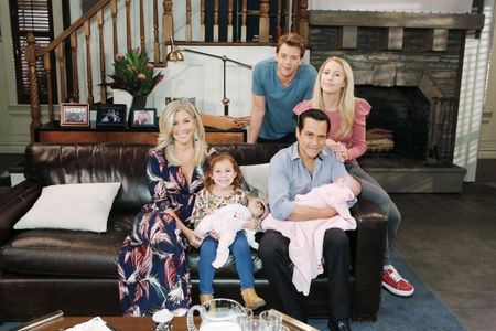 LAURA WRIGHT, AVA AND GRACE SCAROLA, CHAD DUELL, EDEN MCCOY, MAURICE BENARD