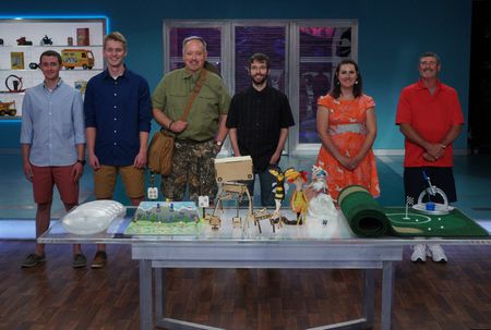 MICHAEL KERN AND MICHAEL COY (GLOW FLYER), THOM CICCHELLI (CAMP OUTRAGEOUS), CHARLES WADE (ROBOMUSTACHE), PAMELA MARTIN (HYBRID CREATURES), DOYLE PERRY (ARCHIPELAGOLF)