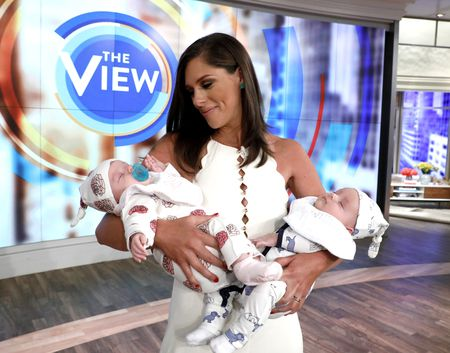 ABBY HUNTSMAN AND HER TWIN BABIES WILLIAM AND RUBY