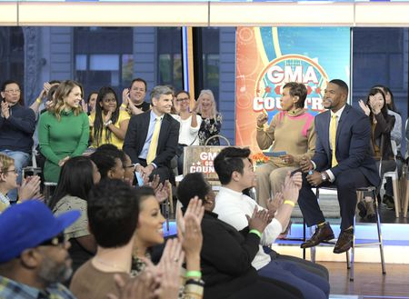 GINGER ZEE, GEORGE STEPHANOPOULOS, ROBIN ROBERTS, MICHAEL STRAHAN