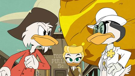 SCROOGE, GOLDIE O'GILT, ROCKERDUCK