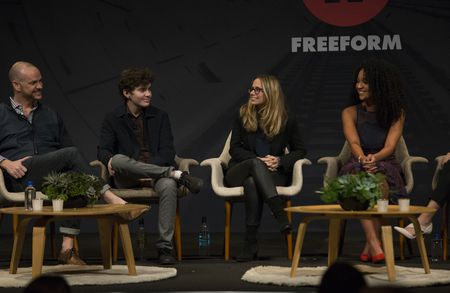 "PETER PAIGE (EXECUTIVE PRODUCER, ""THE FOSTERS""), ELLIOT FLETCHER, AMANDA LASHER (EXECUTIVE PRODUCER, ""THE BOLD TYPE""), AISHA DEE"